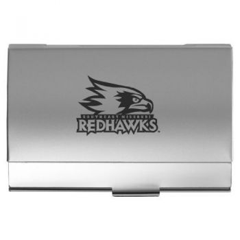 Southeast Missouri State University - Two-Tone Business Card Holder - Silver