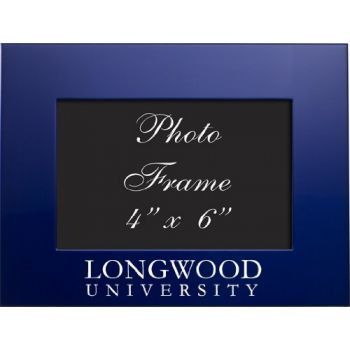 Longwood University - 4x6 Brushed Metal Picture Frame - Blue