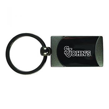 St. John's University -Two-Toned Gun Metal Key Tag-Gunmetal