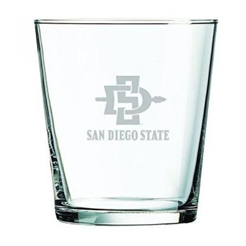 San Diego State University -13 oz. Rocks Glass
