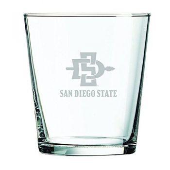 San Diego State University -13 oz. Rocks Glass