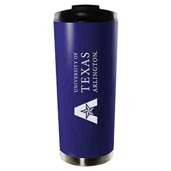 University of Texas at Arlington-16oz. Stainless Steel Vacuum Insulated Travel Mug Tumbler-Blue