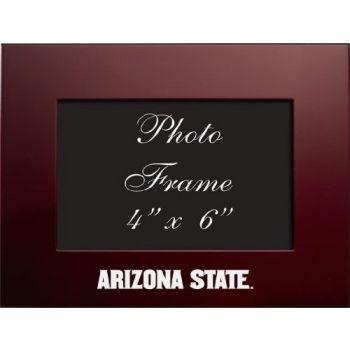 ASU Sun Devils - 4x6 Brushed Metal Picture Frame - Burgundy