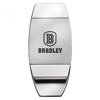 Bradley University - Two-Toned Money Clip - Silver
