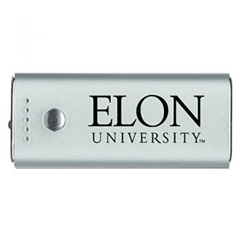 Elon University -Portable Cell Phone 5200 mAh Power Bank Charger -Silver