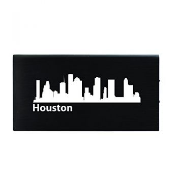 Houston, Texas-8000 mAh Portable Cell Phone Charger-Black