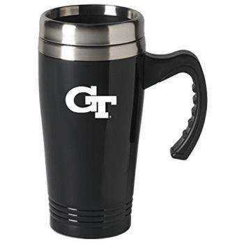 Georgia Institute of Technology-16 oz. Stainless Steel Mug-Black