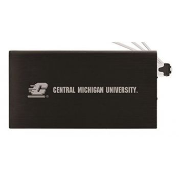 8000 mAh Portable Cell Phone Charger-Central Michigan University -Black