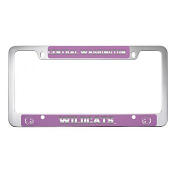 Central Washington University -Metal License Plate Frame-Pink