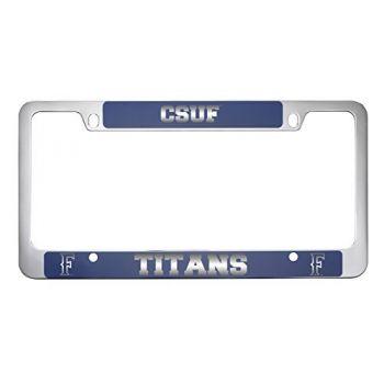California State University Fullerton -Metal License Plate Frame-Blue
