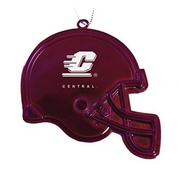 Central Michigan University - Christmas Holiday Football Helmet Ornament - Burgundy