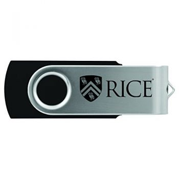 Rice University -8GB 2.0 USB Flash Drive-Black