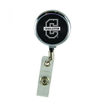 College of Charleston-Retractable Badge Reel-Black