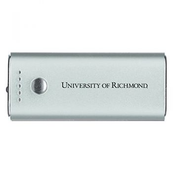 University of Richmond -Portable Cell Phone 5200 mAh Power Bank Charger -Silver