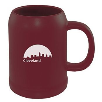 22 oz Ceramic Stein Coffee Mug - Cleveland City Skyline