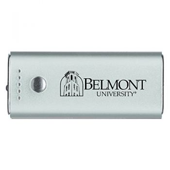 Belmont University-Portable Cell Phone 5200 mAh Power Bank Charger -Silver
