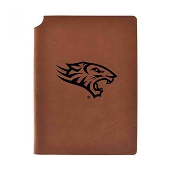 Towson University Velour Journal with Pen Holder|Carbon Etched|Officially Licensed Collegiate Journal|