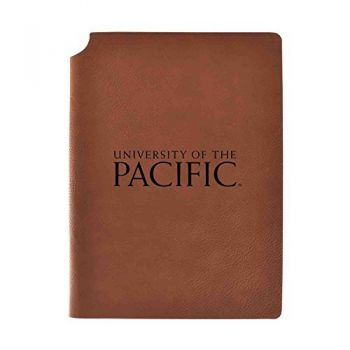 University of The Pacific Velour Journal with Pen Holder|Carbon Etched|Officially Licensed Collegiate Journal|