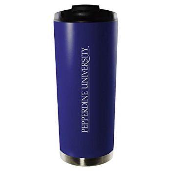 Pepperdine University-16oz. Stainless Steel Vacuum Insulated Travel Mug Tumbler-Blue