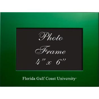 Florida Gulf Coast University - 4x6 Brushed Metal Picture Frame - Green