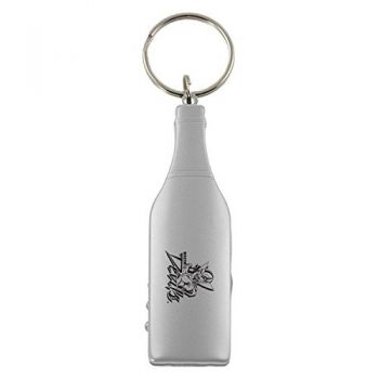 Mississippi Valley State University-Wine Shaped Bottle Opener-Silver
