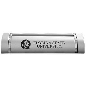 Florida State University-Desk Business Card Holder -Silver