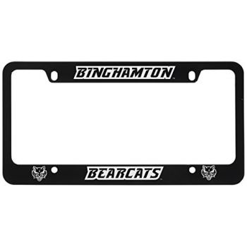 Binghamton University-Metal License Plate Frame-Black