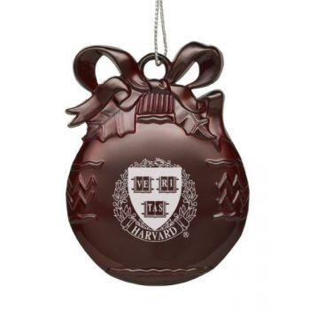 Harvard University - Pewter Christmas Tree Ornament - Burgundy
