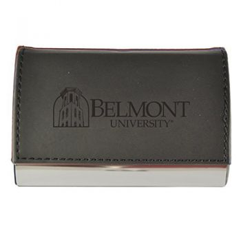 Velour Business Cardholder-Belmont University-Black