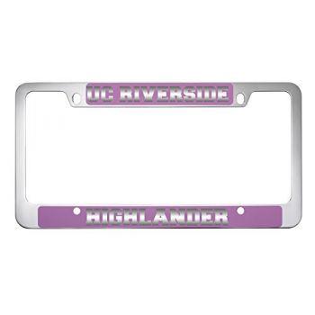 University of California, Riverside-Metal License Plate Frame-Pink