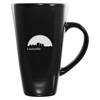 16 oz Square Ceramic Coffee Mug - Louisville City Skyline