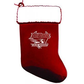 DePaul University - Christmas Holiday Stocking Ornament - Red