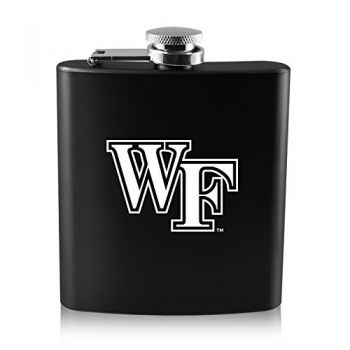 Wake Forest University -6 oz. Color Stainless Steel Flask-Black