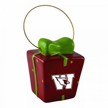 Wesleyan University-3D Ceramic Gift Box Ornament