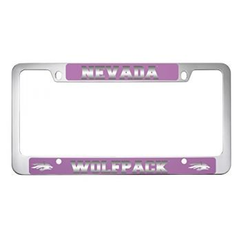 University of Nevada -Metal License Plate Frame-Pink
