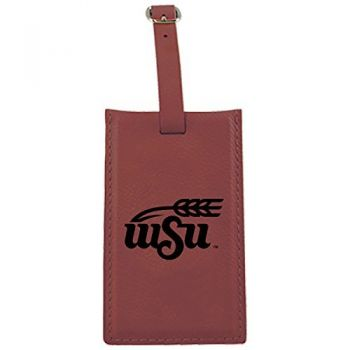 Wichita State University -Leatherette Luggage Tag-Burgundy