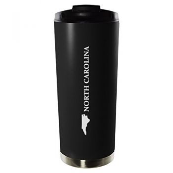 16 oz Vacuum Insulated Tumbler with Lid - North Carolina State Outline - North Carolina State Outline