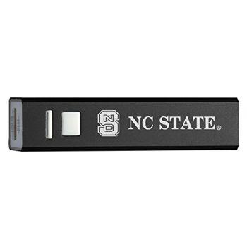 North Carolina State University - Portable Cell Phone 2600 mAh Power Bank Charger - Black