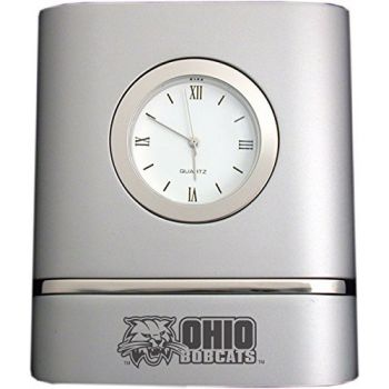 Ohio University- Two-Toned Desk Clock -Silver