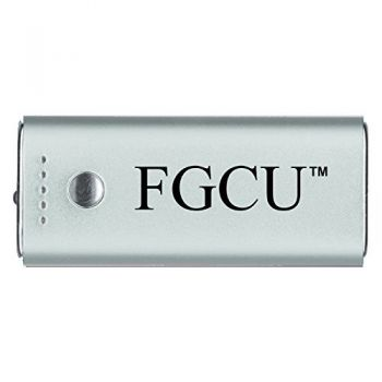 Florida Gulf Coast University -Portable Cell Phone 5200 mAh Power Bank Charger -Silver