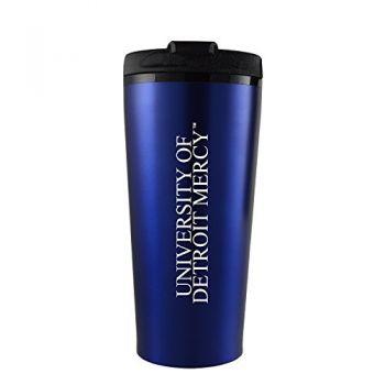 University of Detroit Mercy-16 oz. Travel Mug Tumbler-Blue
