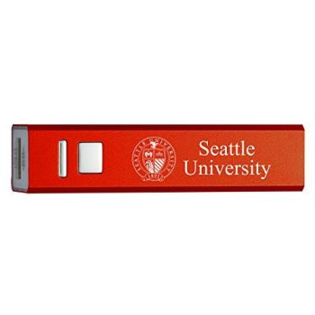 Seattle University - Portable Cell Phone 2600 mAh Power Bank Charger - Red