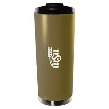 Wichita State University-16oz. Stainless Steel Vacuum Insulated Travel Mug Tumbler-Gold