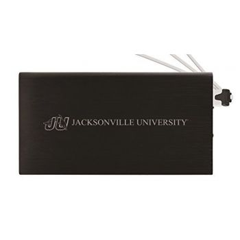 8000 mAh Portable Cell Phone Charger-Jacksonville University -Black