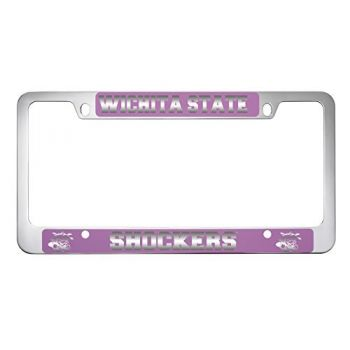 Wichita State University -Metal License Plate Frame-Pink