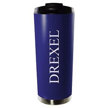Drexel University-16oz. Stainless Steel Vacuum Insulated Travel Mug Tumbler-Blue