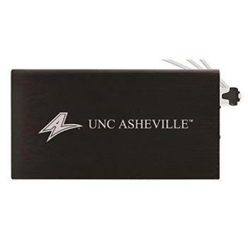 8000 mAh Portable Cell Phone Charger-University of North Carolina at Asheville-Black