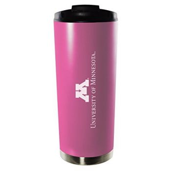 University of Minnesota-16oz. Stainless Steel Vacuum Insulated Travel Mug Tumbler-Pink