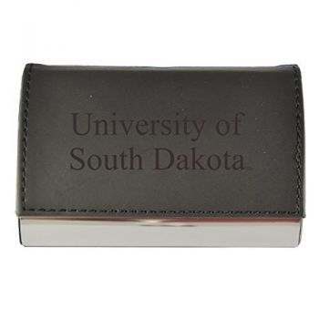 Velour Business Cardholder-University of South Dakota-Black