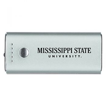 Mississippi State University -Portable Cell Phone 5200 mAh Power Bank Charger -Silver